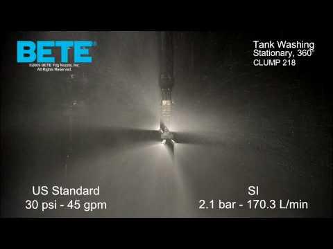 Tank Washing Nozzles: BETE CLUMP 218
