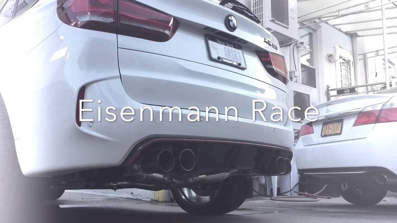 F85 X5M Dinan and Eisenmann Race Exhaust