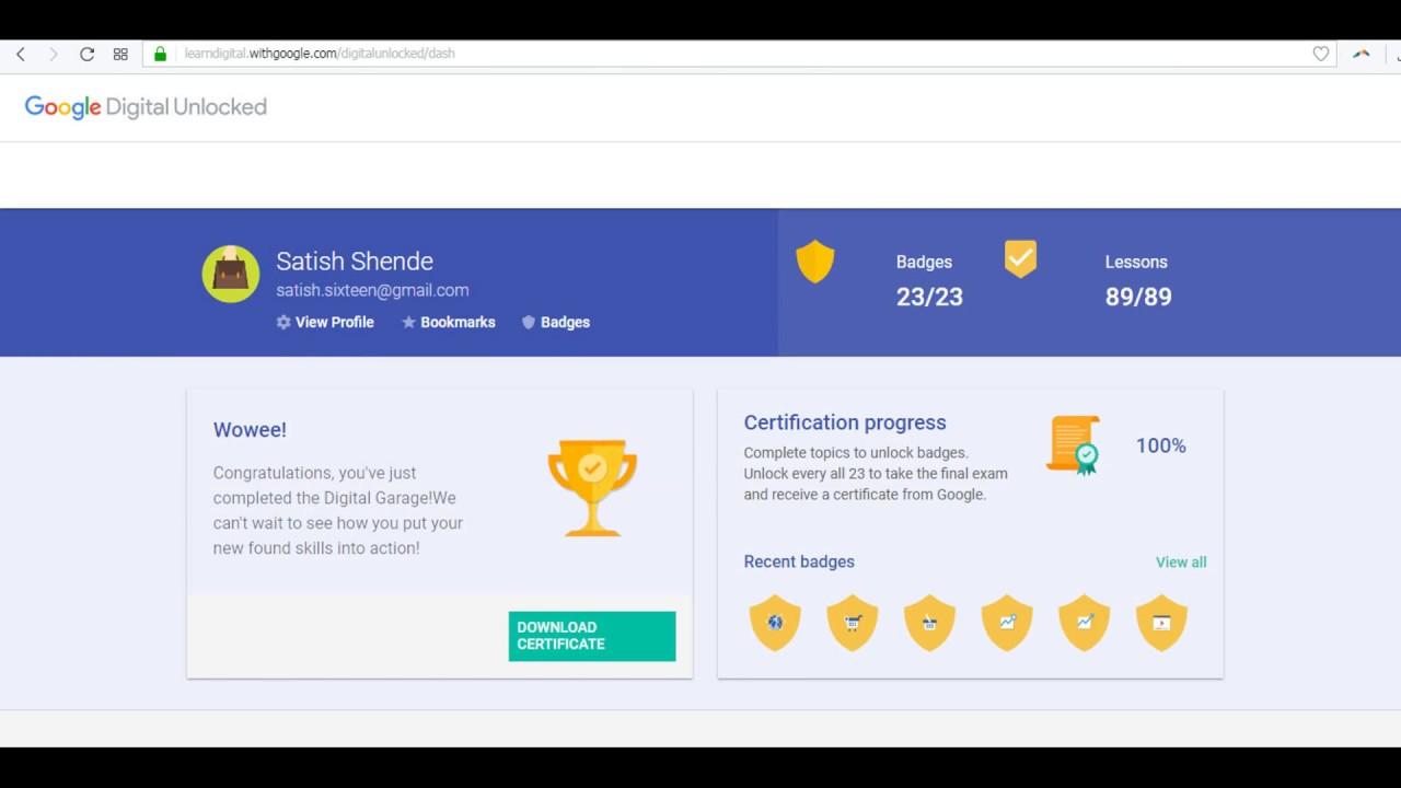 Digital unlocked certification youtube digital unlocked certification 1betcityfo Image collections