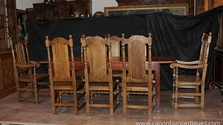 Kitchen Dining Set Refectory Table Set 6 Ladderback Chairs