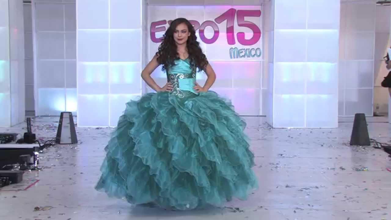 Expo 15 México. Pasarela de vestidos de 15 años, Diseñador Martina ...
