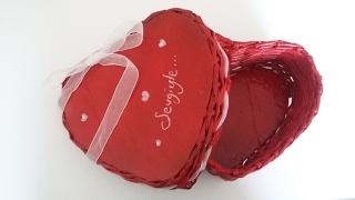 Sevgililer Gününe Özel Gazeteden Kalpli Hediye Paketi - DIY - GERİ DÖNÜŞÜM