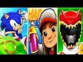 Sonic Dash vs Subway Surfers vs Power Rangers Dino Charge