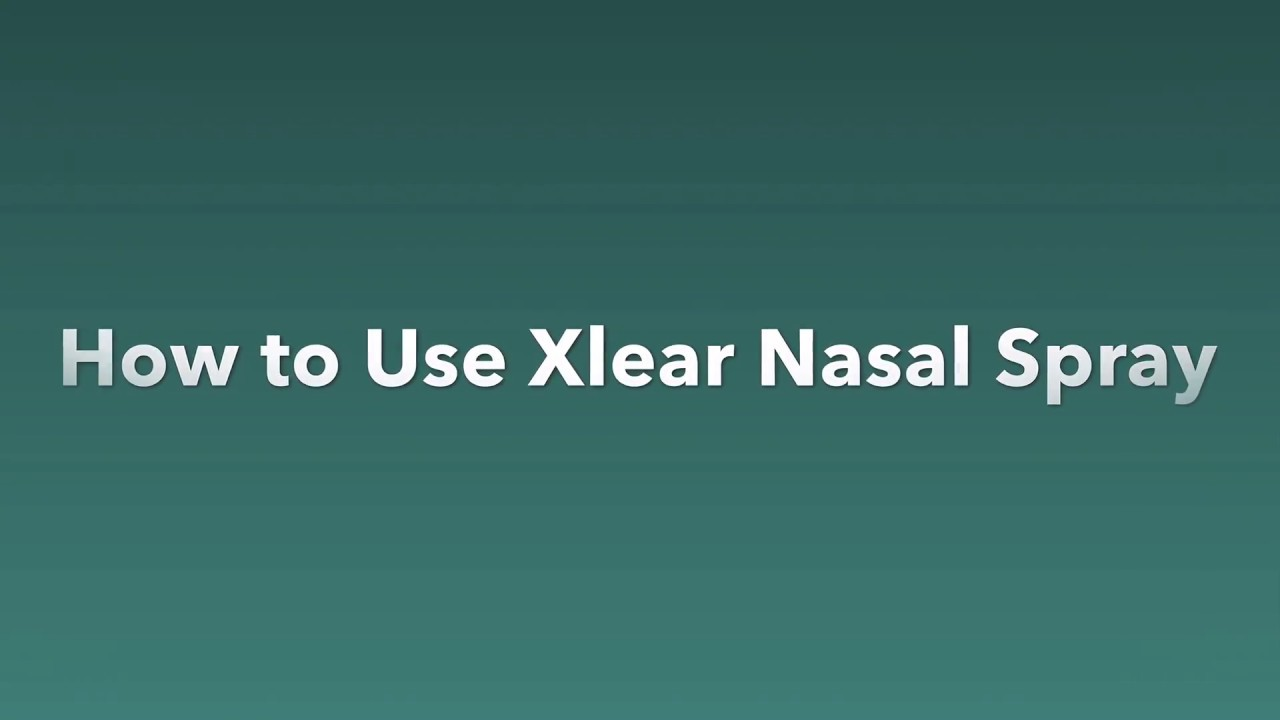 How to Use Xlear Nasal Spray | TMJ & Sleep Therapy Centre