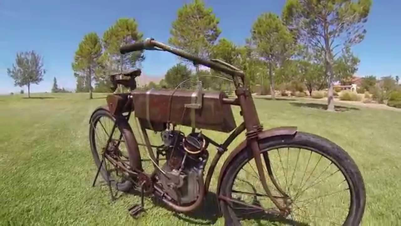 Early 1900 39 s motorbike 1905 harley davidson straptank single motorcycle part 2 youtube - Sigle harley davidson ...