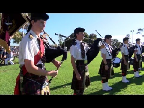 Scotch College Perth Western Australia - 2016 Open Day Pipe Band Display