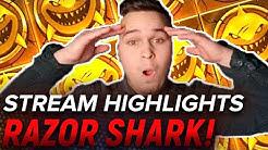 REKORD WIEDER GEBROCHEN?!🔥 Razor Shark MEGA BIG WIN! 2,5K in einem Stream! Big Hits und Freegames