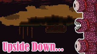 Terraria but the woŗld is upside down... (1/2)
