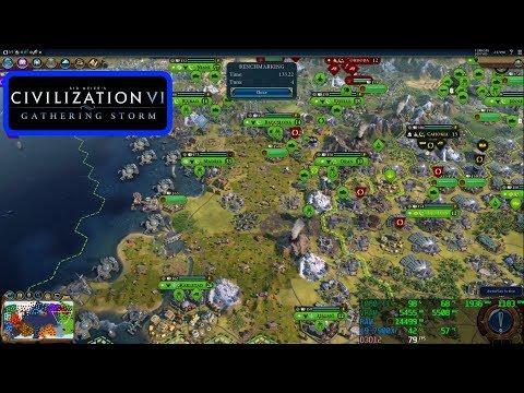 Civilization VI Gathering Storm - 1080p - Benchmark - Max And Minimum Settings - 1080 Ti - i9-7900X |