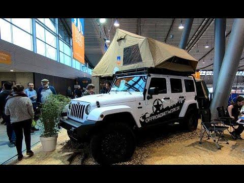 JEEP WRANGLER UNLIMITED CAMPER VEHICLE 3DOG TOPDOG 160 WALKAROUND MOBILE AUTO CAMP