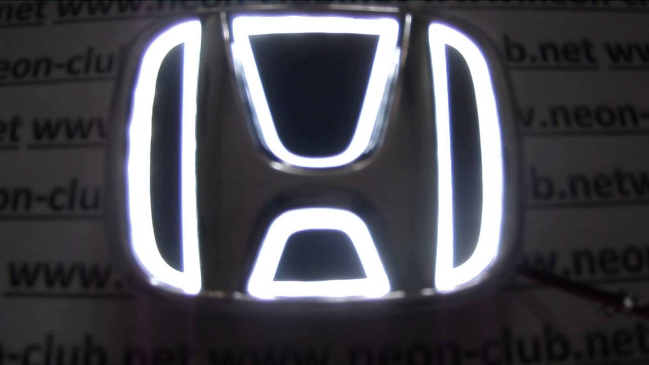 Honda parts & accessories - car led logo for New Fit, Odyssey ...