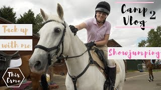 PONY CAMP VLOG 2 | Showjumping and TACK up with me | Day 3 | This Esme