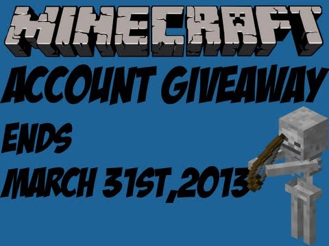 Minecraft Account For Free Giveaway