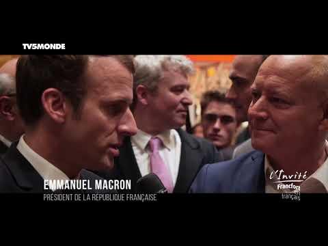 Emmanuel MACRON : INTERVIEW EXCLUSIVE à Francfort sur TV5MONDE