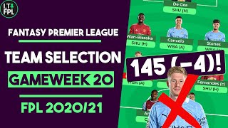TOP 5,000 RANK! | FPL Team Selection Gameweek 20 | Fantasy Premier League Tips 2020/21