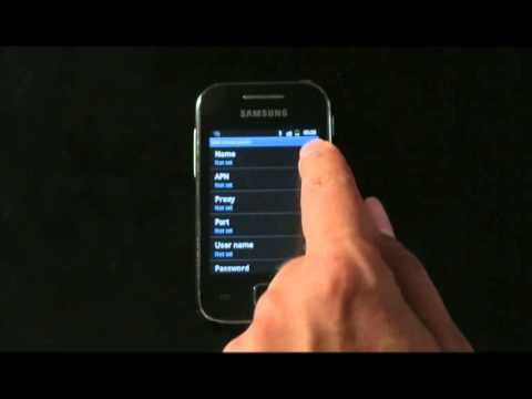 How to setup the Internet settings for Samsung GalaxyY which running  Gingerbread OS (English)