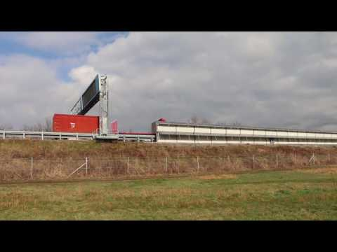 Solar power plant on the noise barrier