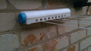видео Настенная сушилка для белья: раздвижная сушка и складная в ванную, веревки и фото комнаты, Леруа Мерлен