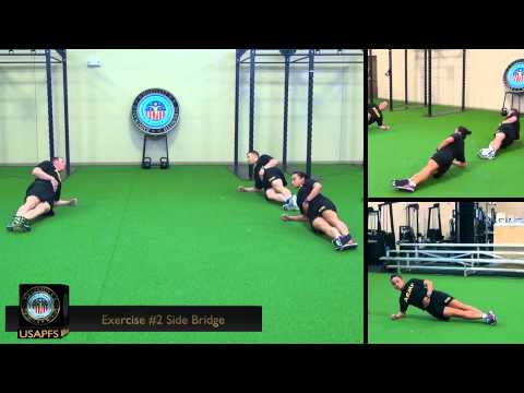 4 FOR THE CORE EXERCISE 2: SIDE BRIDGE