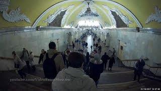Вход на станцию метро Комсомольская кольцевой линии 01.10.2017