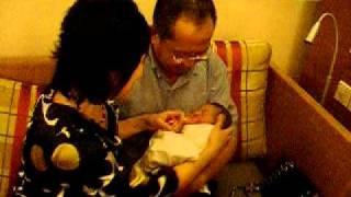 Gibb's Dad with Kim.AVI