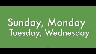 Days of the Week Song Video