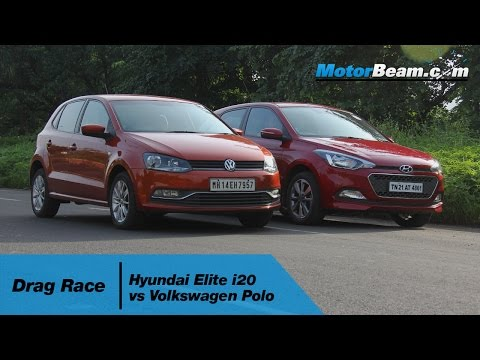 Hyundai Elite i20 vs Volkswagen Polo - Drag Race | MotorBeam