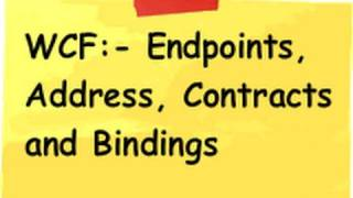 What are endpoints, address, contracts and bindings?