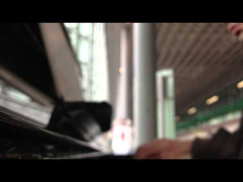 Armenian lawyer Vahe Astvatsatryan plays piano at Charles de Gaulle airport (Paris)