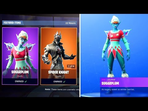 New SUGARPLUM SKIN in Fortnite..