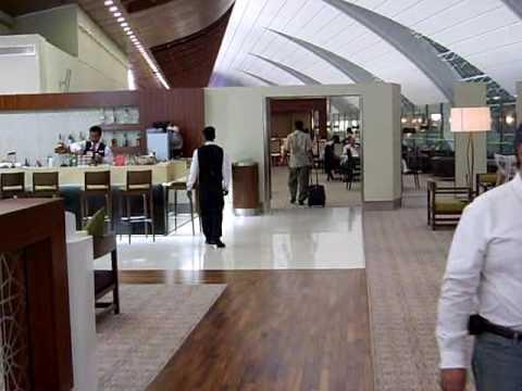 Emirates First Class lounge at Dubai