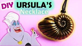 Polymer Clay Ursula's Seashell Necklace, The Little Mermaid    Maive Ferrando