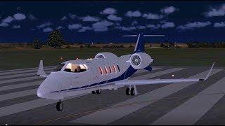 Vuelo del Learjet 60 de Travis Barker en Carolina del Sur (Reconstrucción)