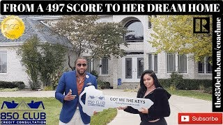 From 497 FICO Credit Score To Buying Her Dream Home - First Time Owner,Ultra,My Monitoring Services