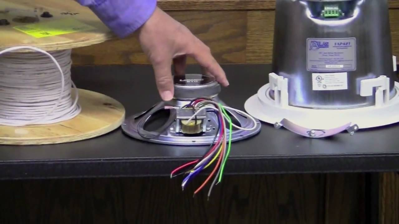 maxresdefault 70v speaker systems part 1 youtube 70 volt transformer wiring diagram at fashall.co