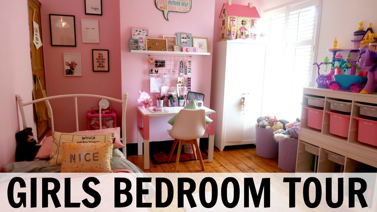 Superbe GIRLS BEDROOM TOUR AND STORAGE IDEAS!