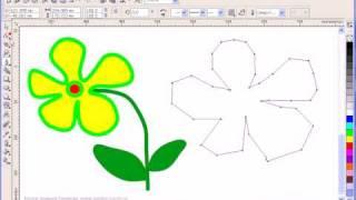 Кривая линия в  Corel Draw