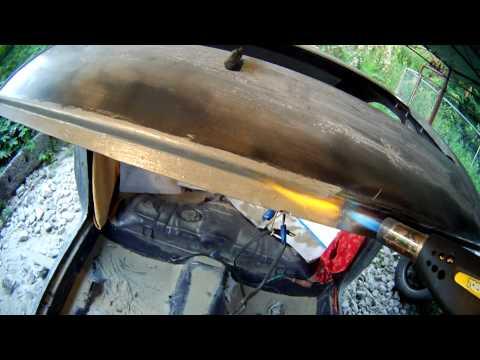 Лужение кузовных деталей пастой для лужения