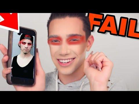 JAMES CHARLES FAILING at a MAKEUP TUTORIAL for 2 minutes straight (Josh Dun Eyeshadow)