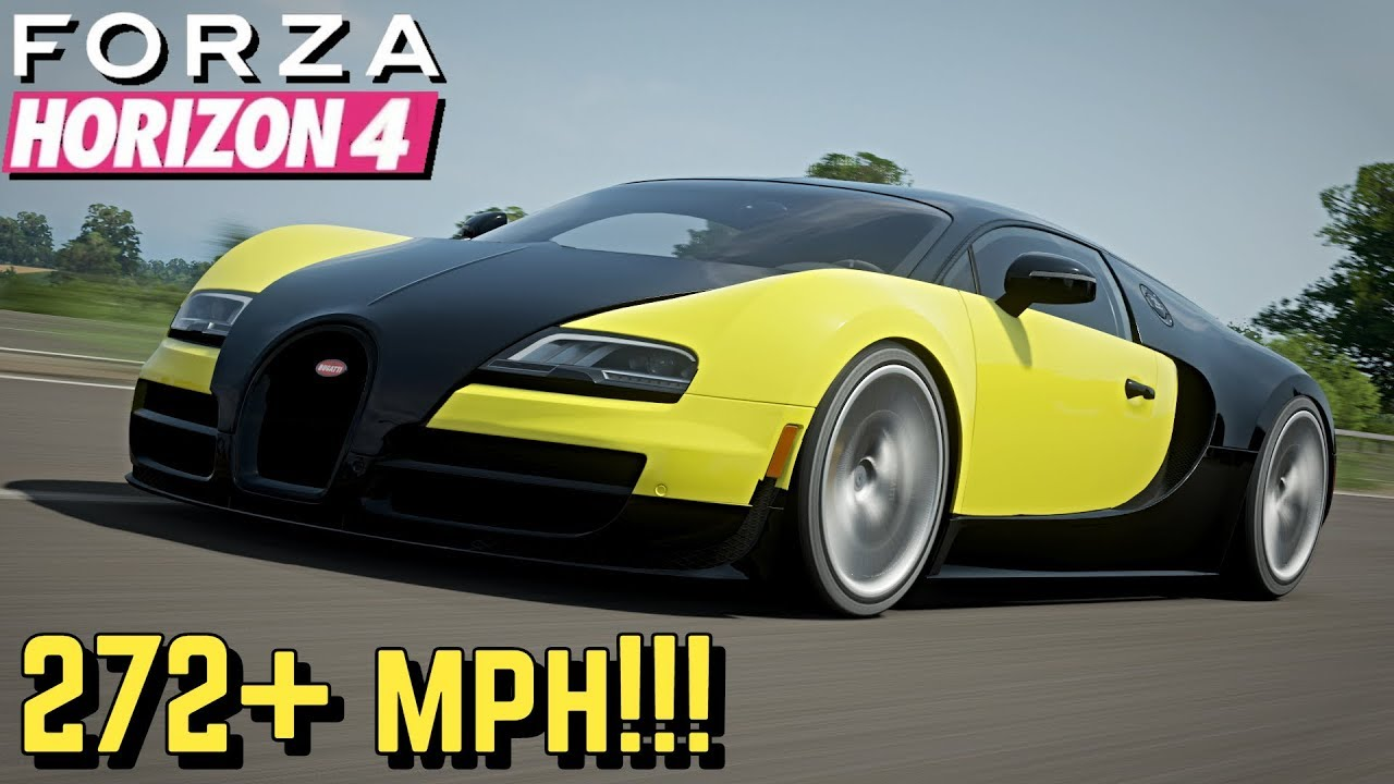 Forza Horizon 4 272 Mph Bugatti Veyron Ss Setup Youtube