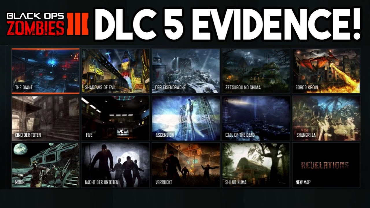NEW DLC 5 MAP PACK EVIDENCE BLACK OPS 3 ZOMBIES DLC 5 REMASTERED