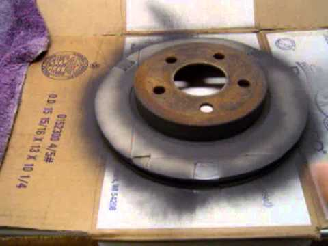 How And Why To Paint Brake Rotors Before Turning Youtube