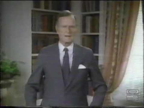 President George H Bush US Fish & Wildlife Service Television Commercial 1991