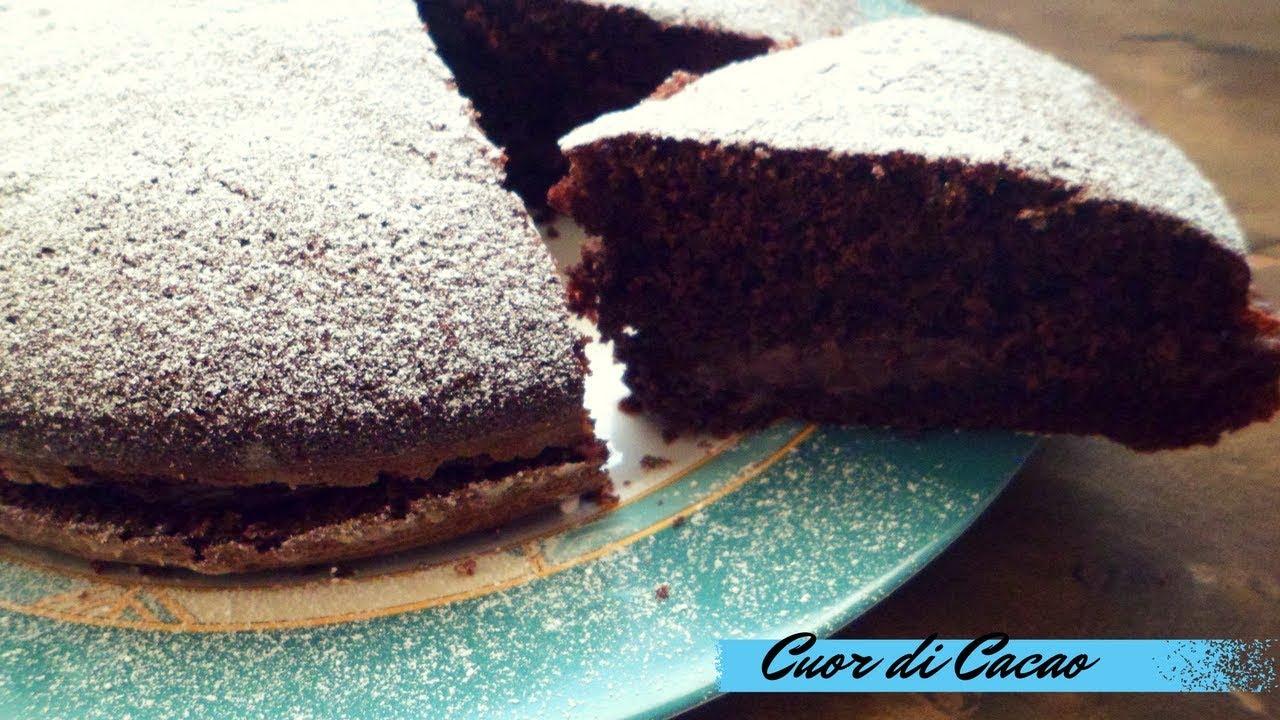 Torta Al Cacao Con Crema Al Mascarpone E Nutella Youtube