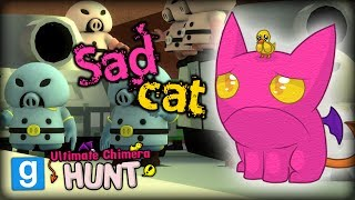 I AM FIRST! CUTE PIGGIES AND CATS IN GARRY'S MOD - GMOD Ultimate Chimera Hunt Funny Moments