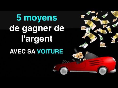 5 moyens pour gagner argent avec sa voiture