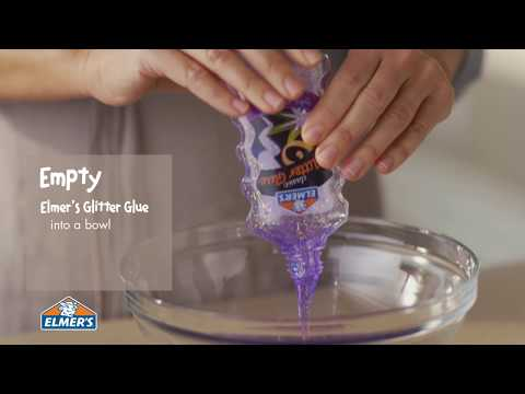 How do you make slime with glitter glue and contact solution