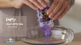 Elmer's Glue DIY, KID-FRIENDLY Puŗple Glitter Slime!