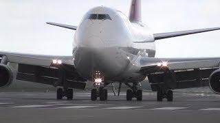 B747  LANDING IN CROSSWIND @ DONCASTER AIRPORT (UK)