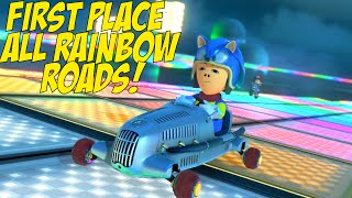 DAAAMN! I GOT GOOD! [ONLY MUSHROOMS RAINBOW ROADS!] [MK8]